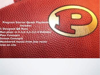 Football Playbook- Program Starter Quads Formation