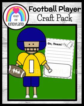 Sports Craft and Writing: Football Player