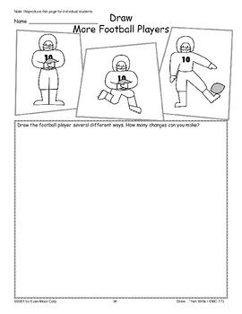 Football Player (Draw Then Write)