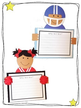 Football Player and Cheerleader Craftivity