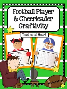 Football Player and Cheerleader Craftivity