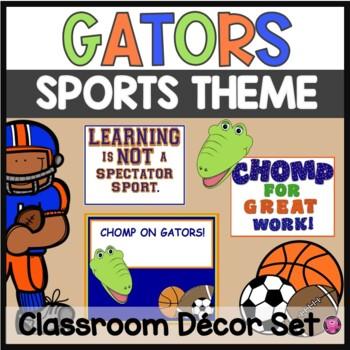 Back to School Florida Gator Sport Theme Decor Set