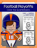 Super Bowl - Color by Addition and Subtraction