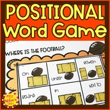 Football Positional Word Game | Special Education and Autism Resource
