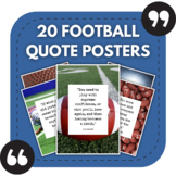 Football Posters - 20 Great Quotes About American Football