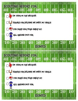 Football Praise Notes