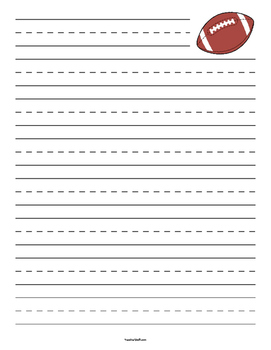 Football Primary Lined Paper