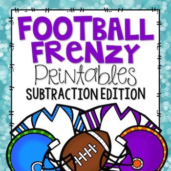Football Printables {Subtraction Edition}