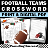 Football Themed Classroom Crossword Puzzle for ELA, Back to School Sports Theme