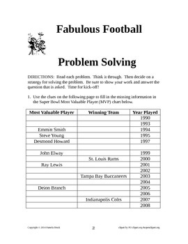 Football Problem Solving