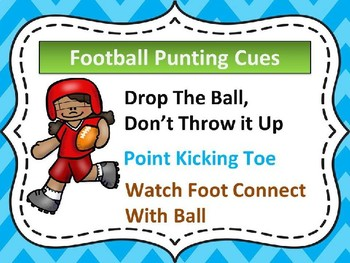 Football Punting Cues Poster