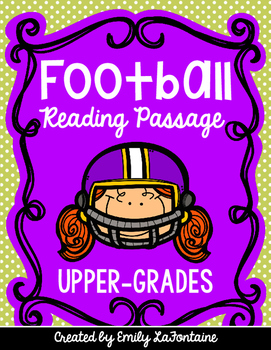 Football Reading Comprehension Passage