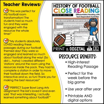 Football Reading Comprehension Unit