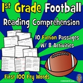 Football Reading Passages: First Grade Reading Comprehension: Football Activity