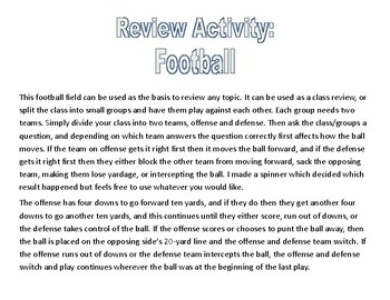 Football Review Activity