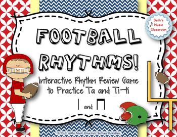 Football Rhythms! Interactive Reading Game - Ta and ti-ti