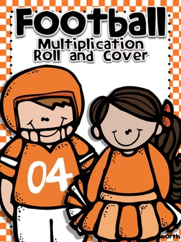 Football Roll and Cover for Multiplication Center Activity