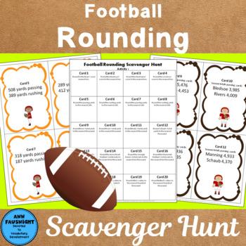 Football Rounding Scavenger Hunt through 100,000s