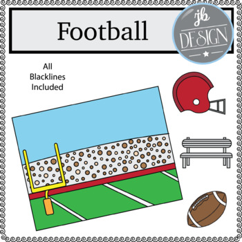 Football Scene (JB Design Clip Art for Personal or Commercial Use)