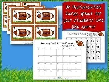 Football Multiplication and Division Bundle