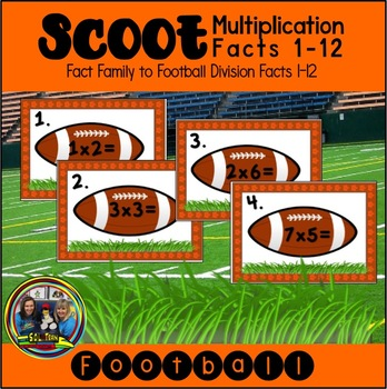 Football Scoot Game For Multiplication