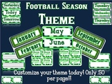 Football Season Blue and Green Classroom Theme
