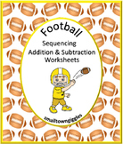 Football Sequence, Addition, Subtraction Kindergarten, Special Education, Autism