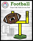Football Shape Craft, Graphing, Counting Activities for Fa