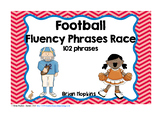 Football Sight Word CVC Fluency Phrases Race