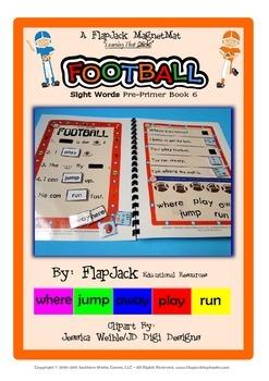 Football Sight Word MagnetMat Fun