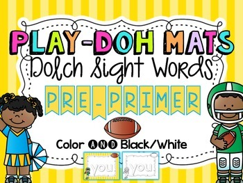 Football Sight Word Play Doh Mats {Dolch Pre-Primer}