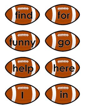 Football Sight Words