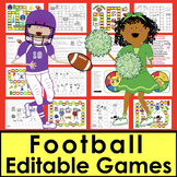 Football Sight Words Game Boards-1st 106 Dolch Words - Super Sunday!