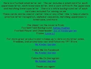 Football Alphabet Letter Flashcards