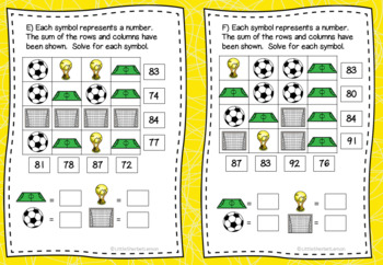 Football / Soccer World Cup 2018 Logic Puzzles