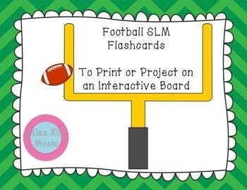 Football Sol-La-Mi Color Flashcards