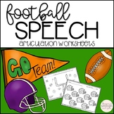 Football Speech - No Prep Worksheets for Speech Therapy