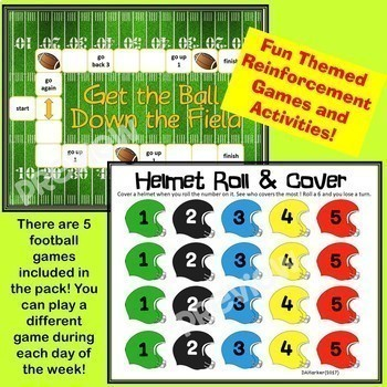 Football Speech Therapy Printable Pack