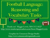 Football Speech Therapy- Reasoning, Language, and Vocabulary