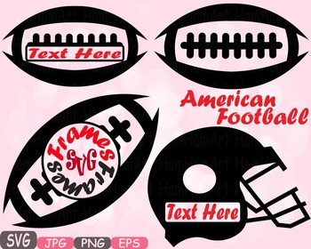 Football Sports Circle & Split Frame Silhouette clipart t-shirt equipment -478s