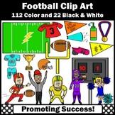 Football Clip Art, Football Player Clipart, SPS