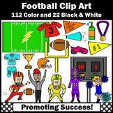 Football Clip Art, Fall Sports Clipart, Football Theme Cla