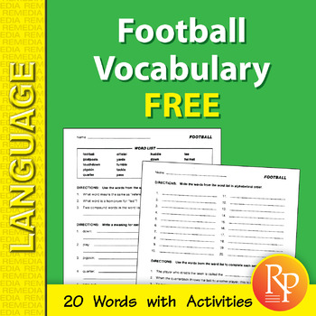 Football: Sports Vocabulary {Freebie}