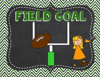 Football Sports themed Clip Chart