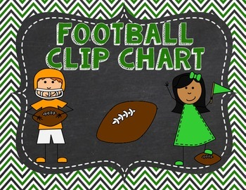 Football Sports themed Clip Chart