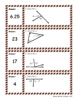 Football Stair step: Two Step Equations from geometric concepts