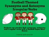 Football/Superbowl Themed Synonyms, Antonyms and Irregular Verbs