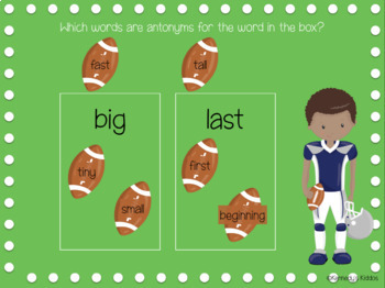Football Synonyms and Antonyms (Great for Google Classroom!)