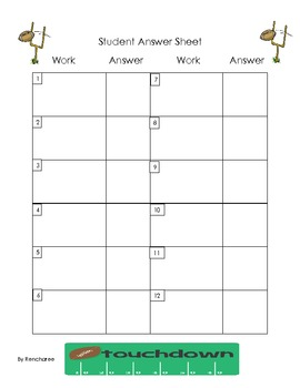 Football Task Cards {Common Core Math for Upper Grades}