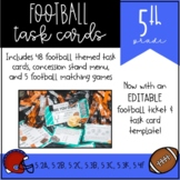 Football Task Cards for 5th Grade